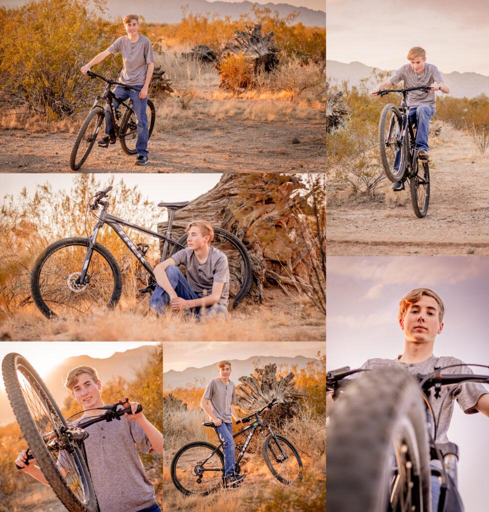 senior, photo, photography, photographer, bike, trail, white tank mountains, desert, guy, style, magazine, boy, phoenix, waddell, goodyear, litchfield park, arizona, surprise, avondale, glendale, peoria, olive, perryville