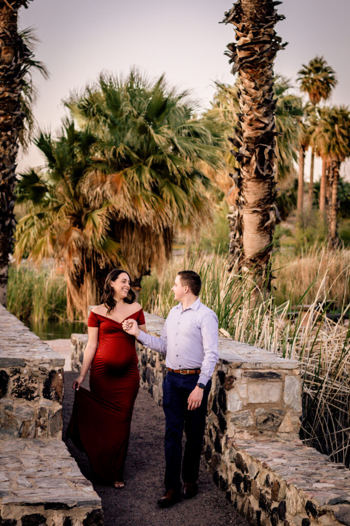 phoenix, engagement, photographer, photography, papago park, hole in rock, red rocks, sunset, location, photo, couple, maternity