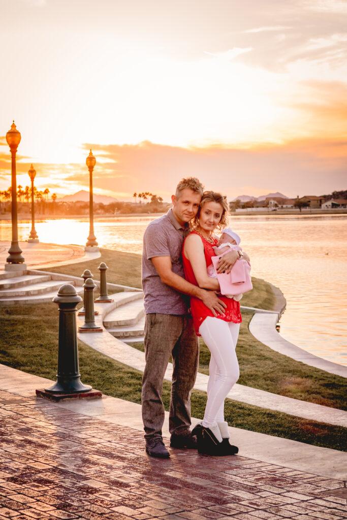 photo, sunset, two second media, photography, family, estrella, mountain, ranch, goodyear, arizona, waterfront, location, photography, photographer, phoenix